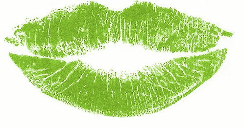 Green Custom Lipstick Kiss