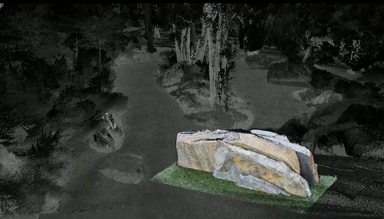 Monash University's Geoscience Rock Garden flythrough