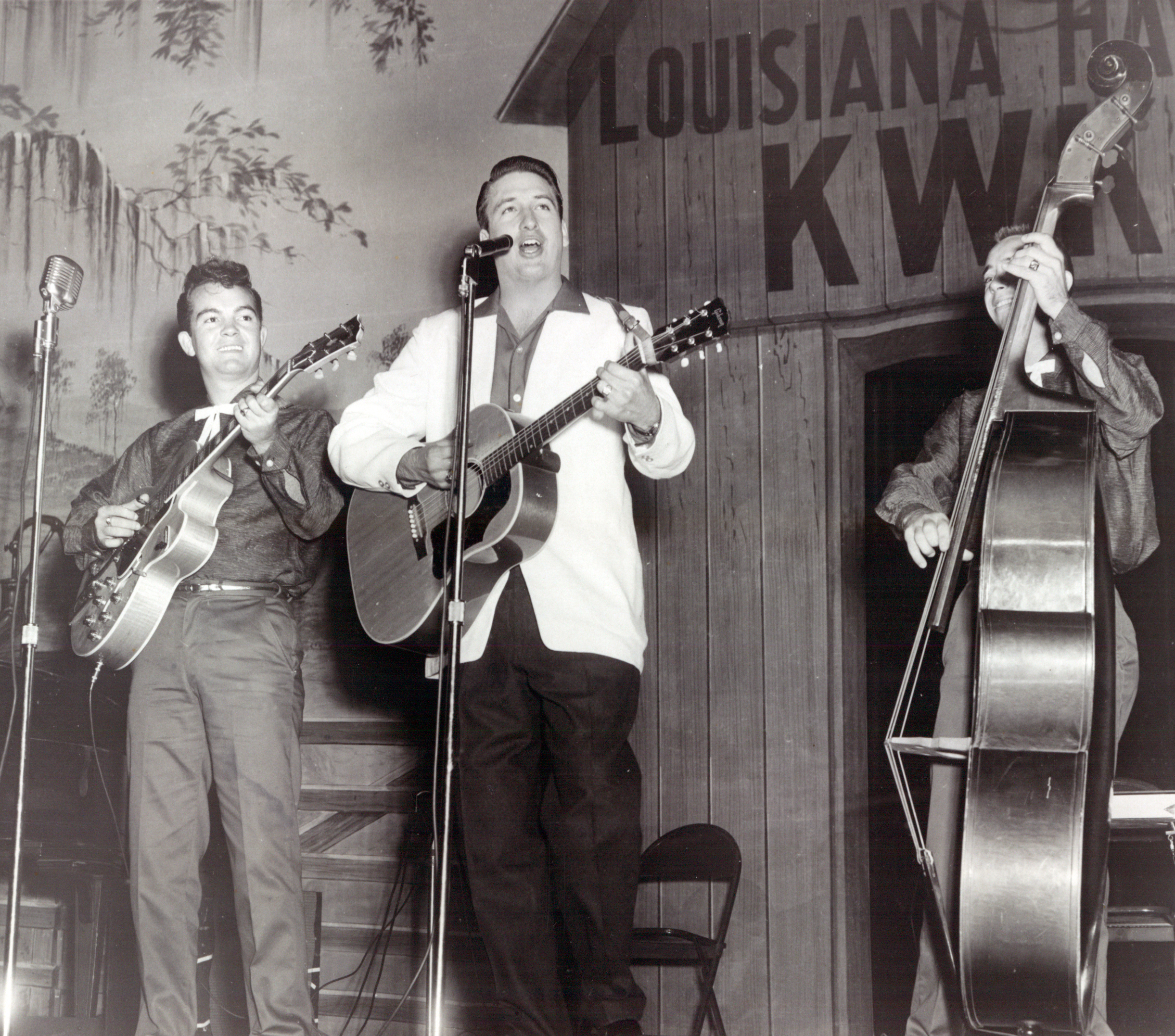 Onstage at the Louisiana Hayride
