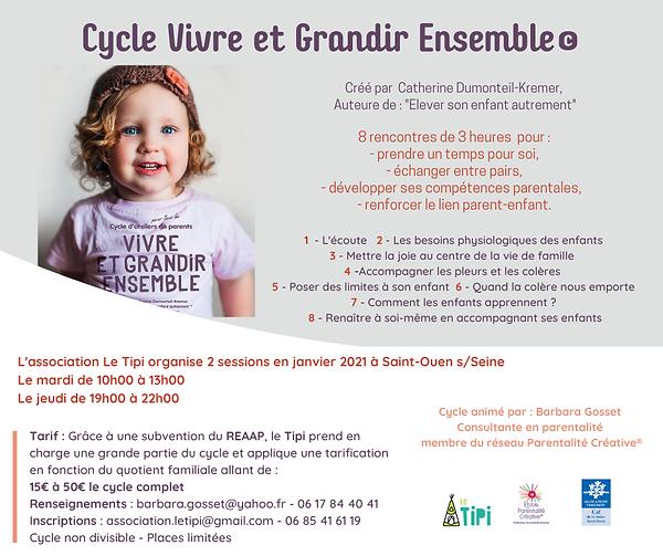Cycle Vivre et Grandir Ensemble Le Tipi
