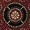 Thumbnail: Red Gold Black Mandala Small Throw Blanket