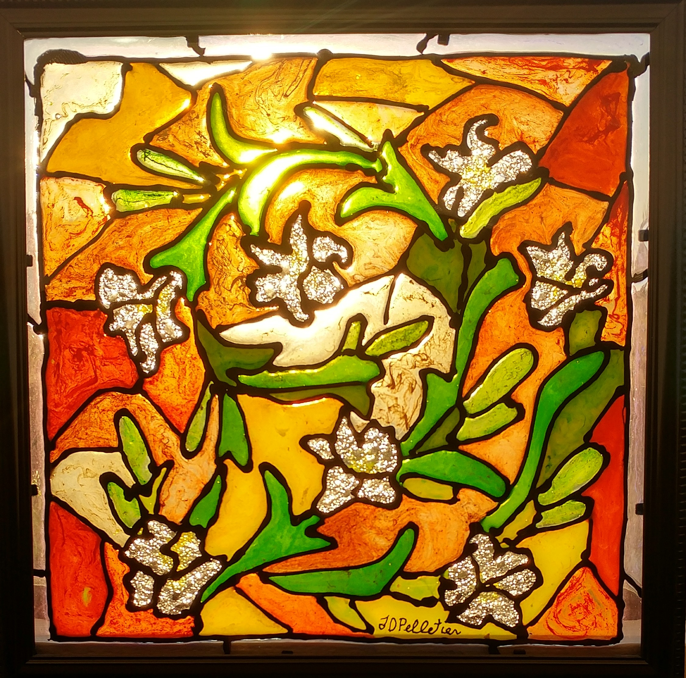 Poured stained glass SOLD