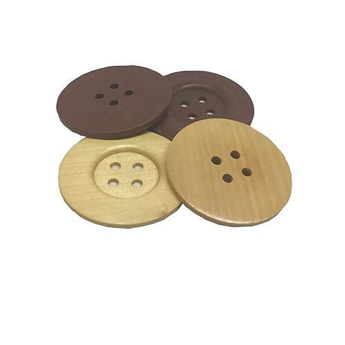 Botón de Madera de 6 cm
