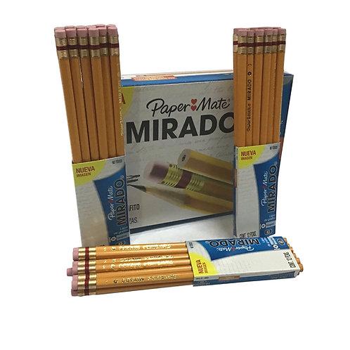Paquete de Lápices #3 con 12 piezas Marca Mirado (1 paquete)