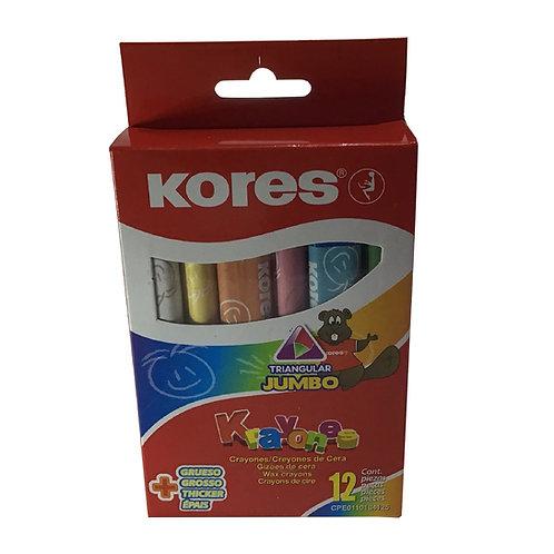 Krayones Kores Jumbo con 12 piezas