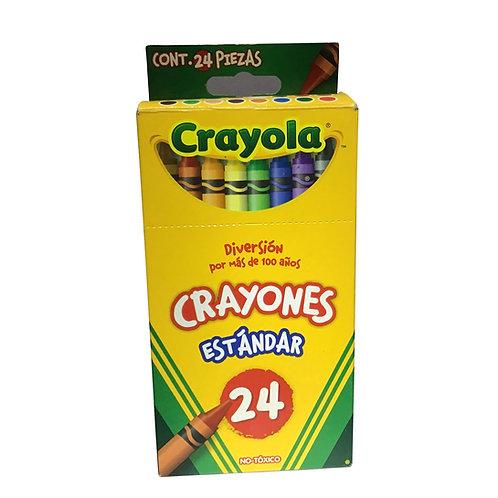 Crayones Estándar con 24 piezas Marca Crayola