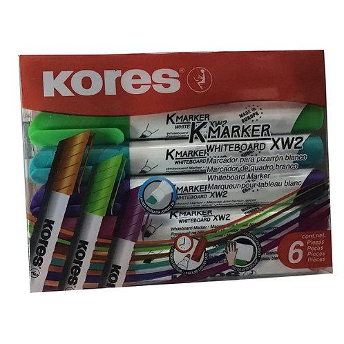 Estuche de Marcadores Kores KMaker para Pizarron con 6 piezas
