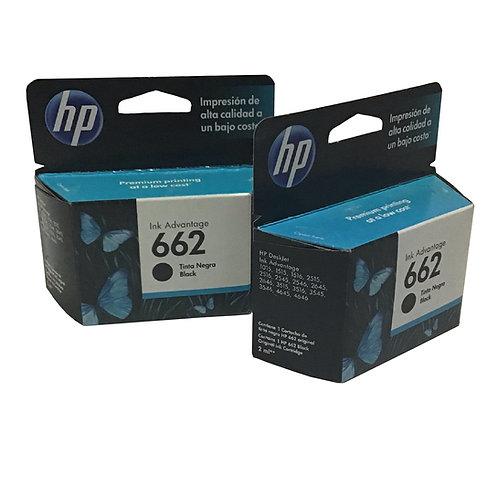 Cartucho HP 662 Negro (1 pieza)