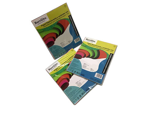 Paquete de Papel Fluorescente (100 piezas)