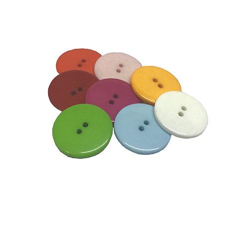 Botón de plástico con 3 cm de ancho (1 pieza)
