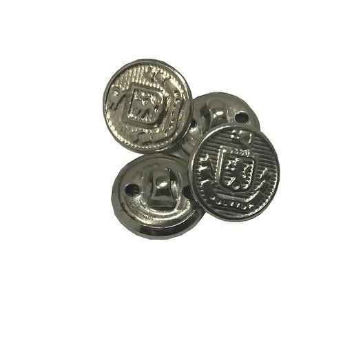 Botón Metálico Escolar Tamaño Chico con Escudo