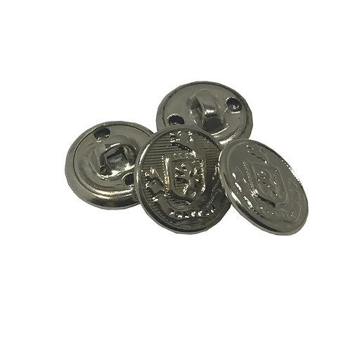 Botón Escolar Metálico Tamaño Mediano con Escudo
