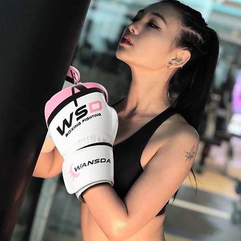 Wansda Adult Women MMA Muay Thai Boxing Gloves