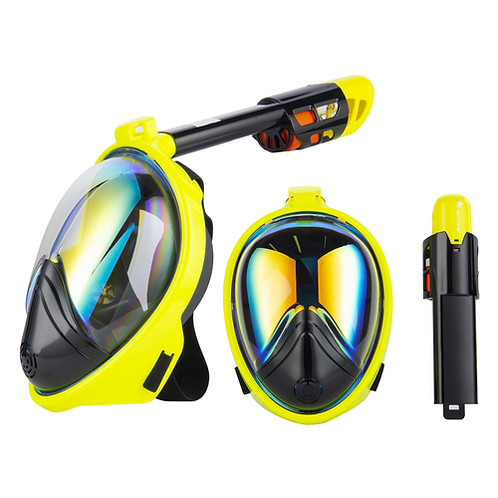 Dive & Sail Full Face Diving Anti-Fog Snorkeling Mask Set