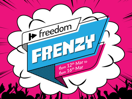 Get Ready for The Freedom Frenzy