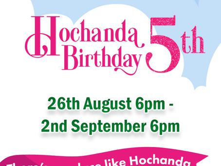You are invited … Hochanda 5th Birthday