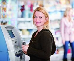 Woman at St. Louis ATM