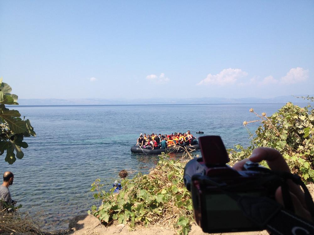 Refugee arrival Ligaria Lesvos