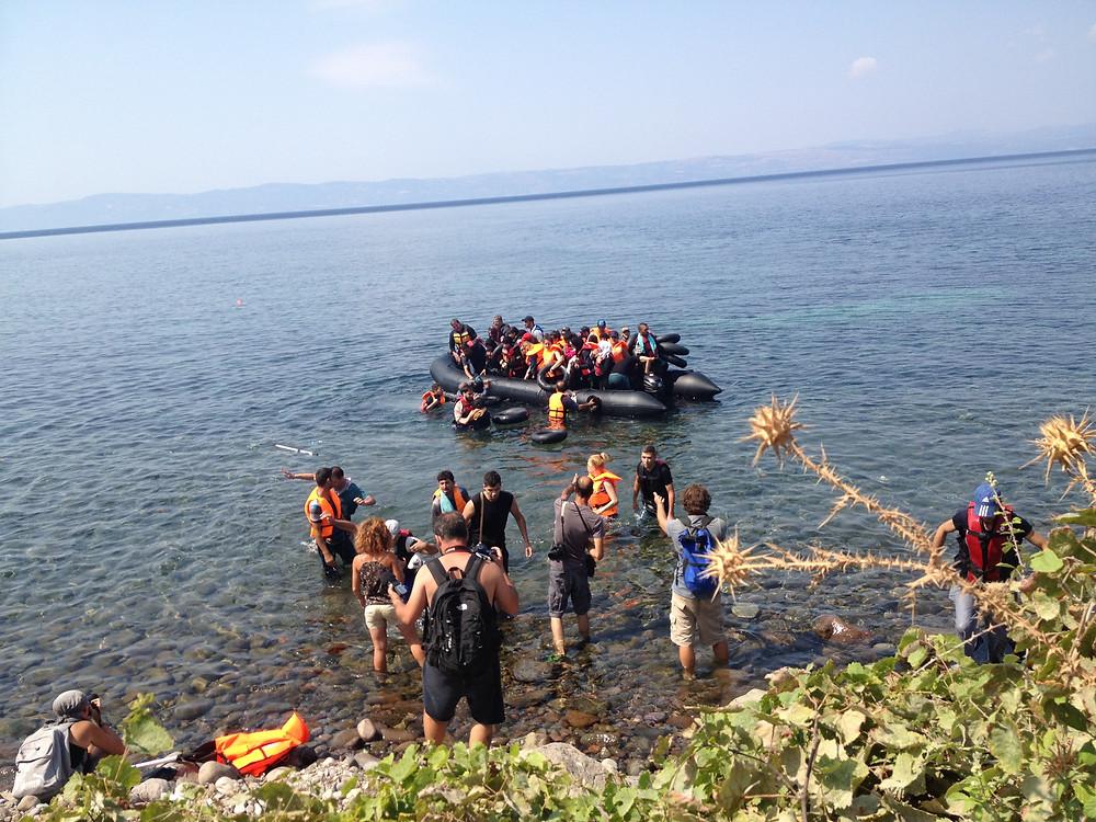 Refugee boat arrival