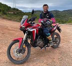 Carles betrail moto Africa Twin 1100