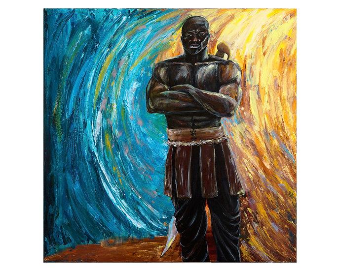 Archangel Michael 30x30stretched canvas print