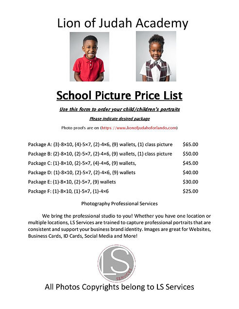 School Picture Price List update 2019-pa
