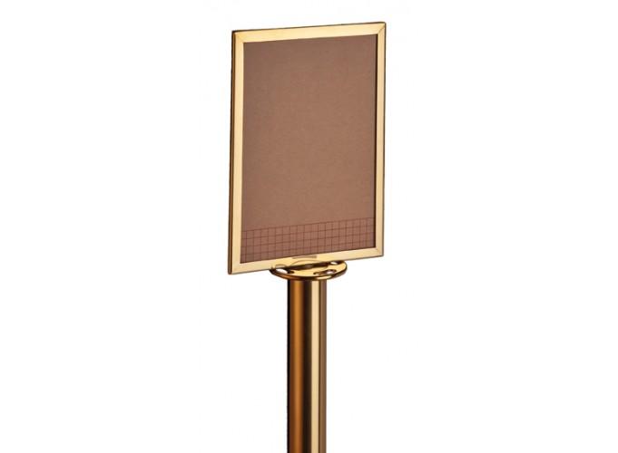 D330 Info ploča sa mesing ili inox okvirom