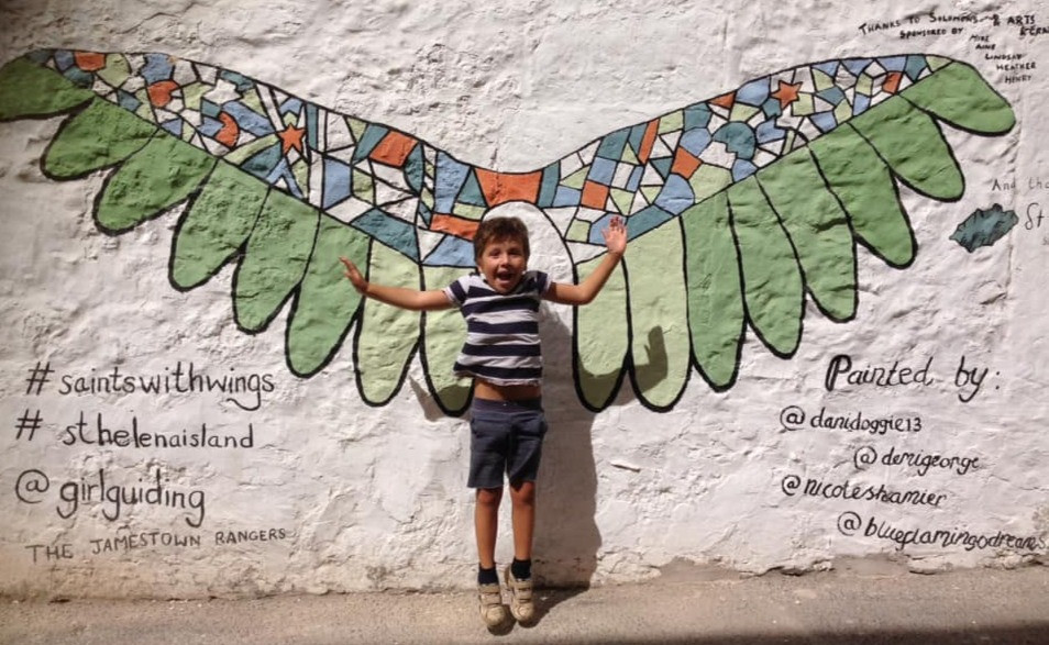 Saints with Wings Mural ~ 2019 Painting with Girl Guides