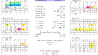 2021-2022 District Calendar