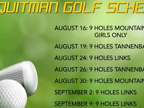 2021 Golf Schedule