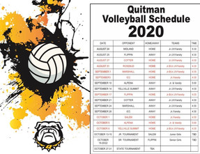 Quitman Volleyball Schedule