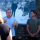 Les photographes de plateau Roger Arpajou et Christophe Brachet