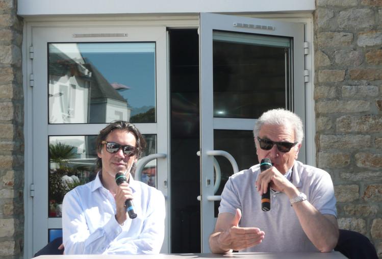 Emmanuel Mouret et Serge Toubiana à la rencontre du public