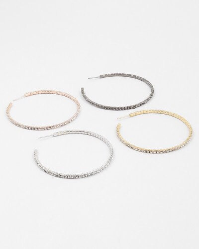 Flex Diamond Hoops