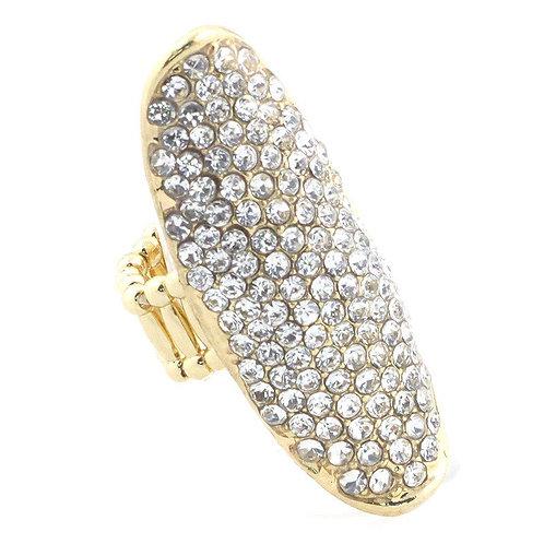 GLAM Faux Diamond BIG Ring