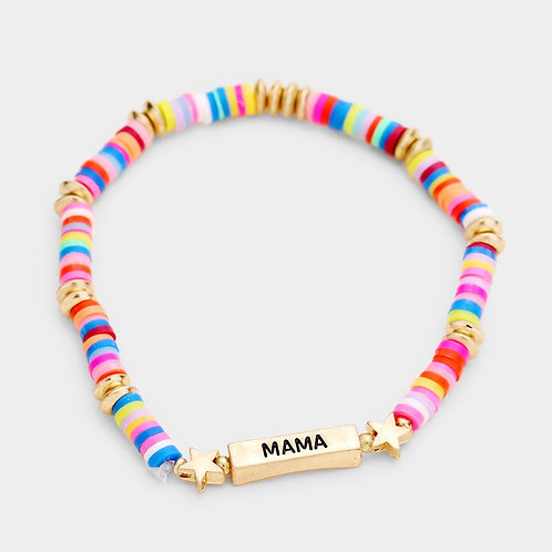 """MAMA"" Stackable Beaded Bracelet"