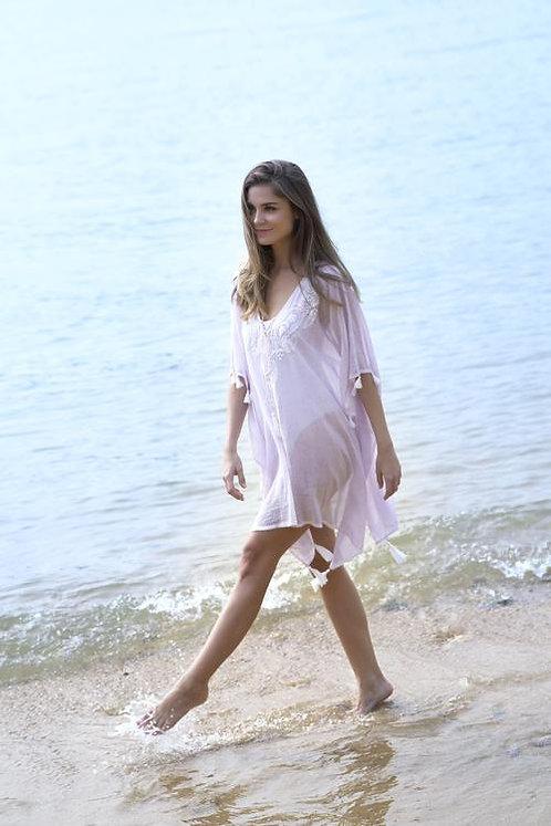 Softest Lilac Boho Beach Coverup