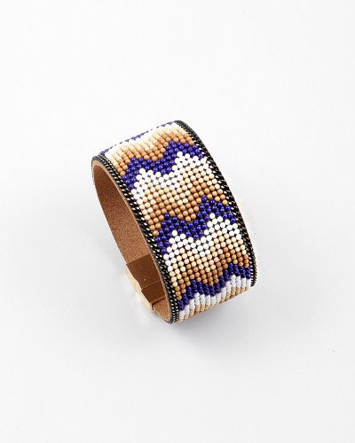 Chevron Beaded Magnetic Cuff