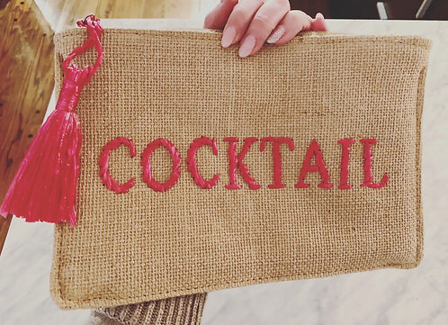Cocktail Woven Clutch