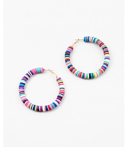 Stripe Glam Hoop Earrings