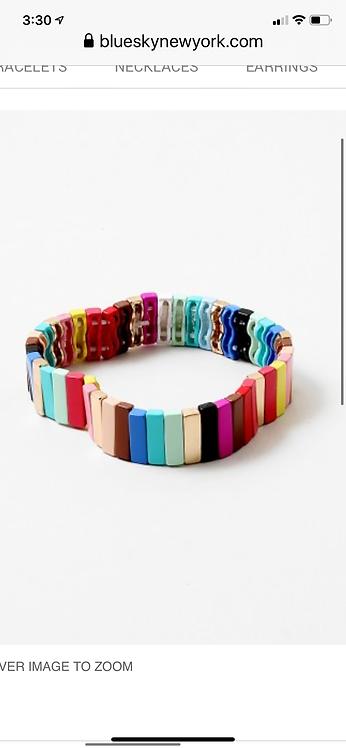 MultiStripe Bead Bracelet