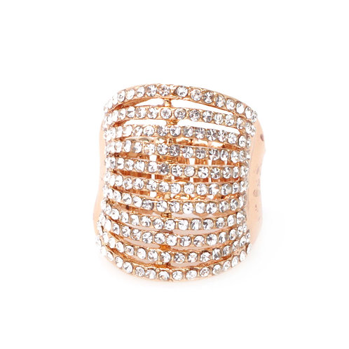 Pave Canopy Cocktail Ring -One size