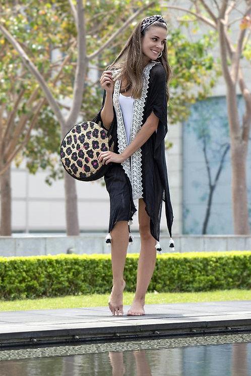 Black/White Boho Kimono