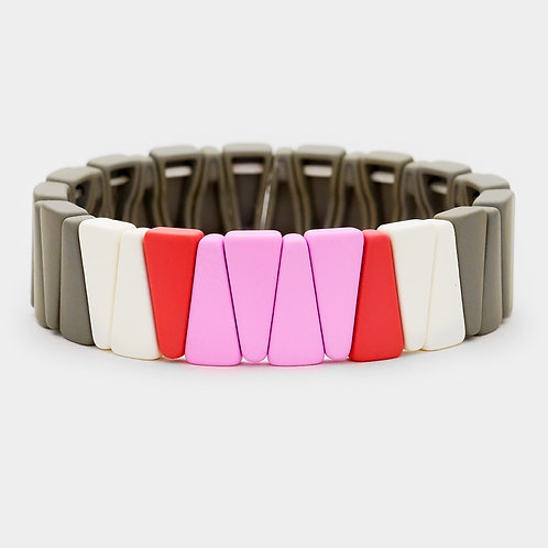 Tile Wide Stackable Bracelet