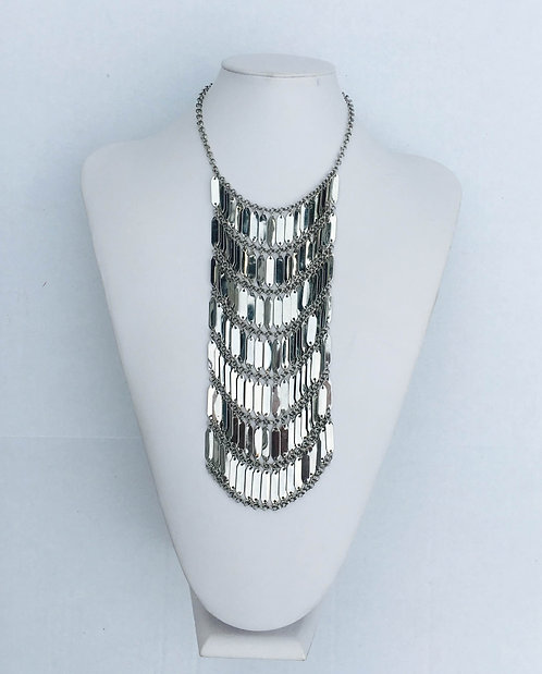Silver Tiered Statement Necklace