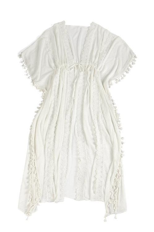 White Boho Kimono