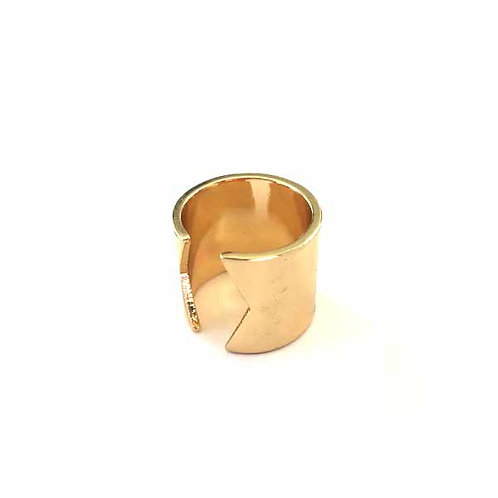 Gold Cut-Out Ring