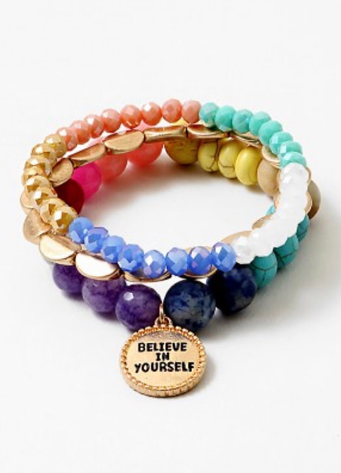 Believe in Yourself Bracelet Stack