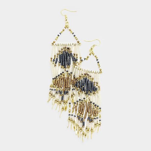 BOHO Seed Beaded Fringe Earrings -Limited Quantities