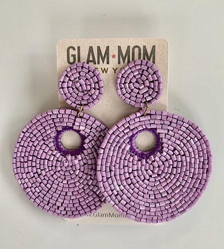 Beaded Earrings Lilac